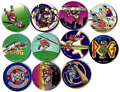 POGS - T-POGMAN-LE 11 001 Lot de 11 Pogs POGMAN Limited Edition WPF (No double)