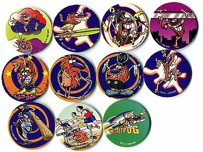 POGS - T-POGMAN-LE 11 002 Lot de 11 Pogs POGMAN Limited Edition WPF (No double)
