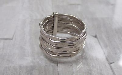 Sterling Silver Joined 7 Stackable Rings; Mexico ~ 7.8grams ~ 7-F5166