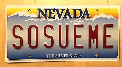 """NEVADA Vanity License Plate """"SO SUE ME"""" LAWSUIT LAWYER LEGAL COURTROOM JUDGE LAW"""