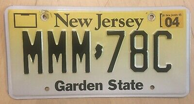 "New Jersey Trippple Letter M  Passenger Auto License Plate "" Mmm 78C "" Nj"