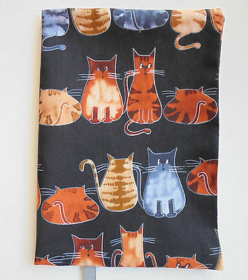 """FABRIC Book Cover 5 1/4"""" x 8 1/4"""" Book Cats  5¼""""x8¼"""" BOOK COVER Kitty Cat Kitten"""