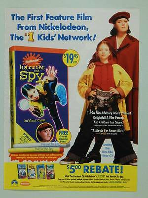 1996 Nickelodeon Harriet the Spy Vintage Ad Page Rosie O'Donnell - Movie TV Show