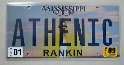 """Ms Vanity License Plate """"athentic"""" Authentic Real Genuine Old Antique Valuable"""