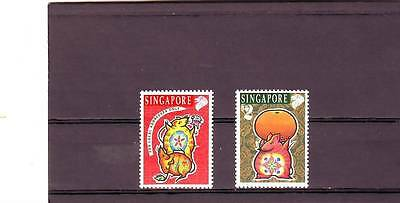 Singapore - Sg826-827 Mnh 1996 Year Of The Rat