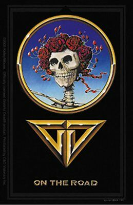 RARE Vinyl STICKER Decal The GRATEFUL DEAD On The Road Skull Roses S3942 Black