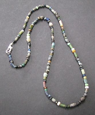 NILE  Ancient Egyptian Roman Period Amulet Mosaic Bead Necklace ca 100 BC