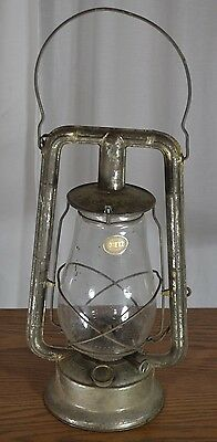lantern Dietz  monarch kerosene oil barn railroad tubular vg antique  1900