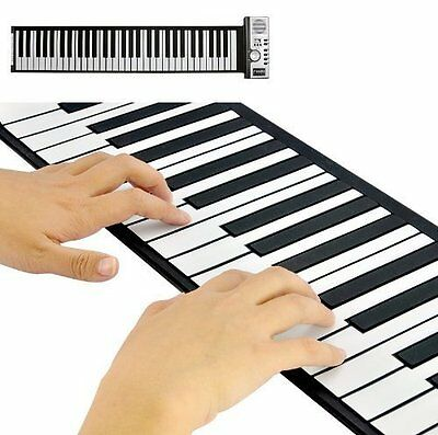 Electric Roll Up Keyboard - Great For Home Entertainment & Common Music Practice