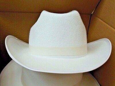 NEW/box 4 DOZEN Dance COSTUME White Felt Cowboy Hats Med or Lge Size adult hat