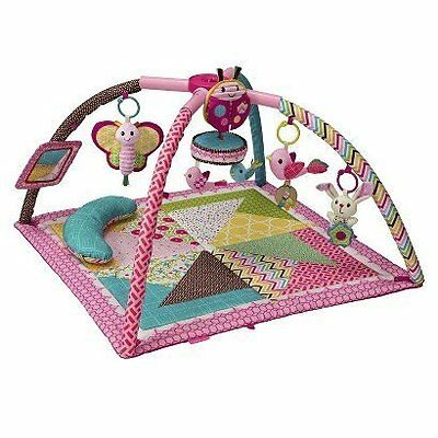 Go Gaga Deluxe Twist & Fold Activity Gym Great for Toodlers by Infantino - Pink