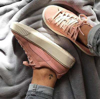 Puma Suede Platform Core Creeper Rihanna Limited Coral Rosa Shoes Chaussures