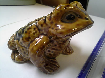 Toad Frog Ceramic Vintage Lg Japan Japanese Pottery Garden Decor Figurine Figure