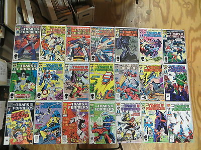 Transformers 21 Issue Comic Run 1-21 Marvel Nice Condition