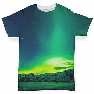 Northern Lights Landscape Baby Toddler Funny ALL-OVER PRINT Baby T-shirt