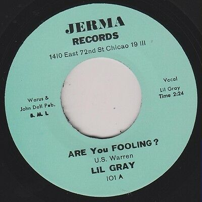 "LIL GRAY Are You Fooling / Out Of Nowhere Re. 7"" Early 1960s Northern R&B HEAR"
