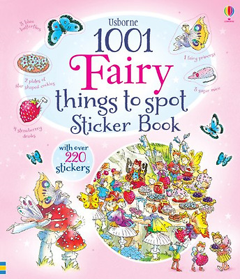 1001 Fairy Things to Spot Sticker Book (1001 Things to  - Paperback NEW Gillian
