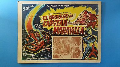 Rare Vintage Original  ADVENTURES OF CAPTAIN MARVEL(1941) Mexican Lobby Card*