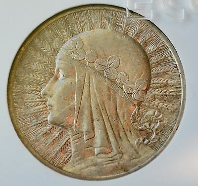 10 Zlotych Silver coin, Queen Jadwiga 1932, London Mint, no mint mark