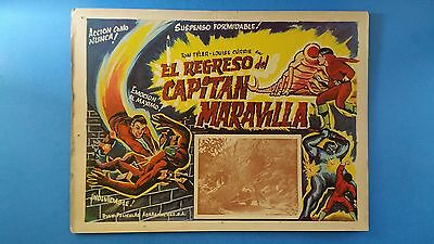Rare Vintage Original  ADVENTURES OF CAPTAIN MARVEL(1941) Mexican Lobby Card**