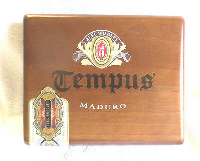 Alec Bradley Tempus Maduro Imperator Wood Cigar Box - Nice!