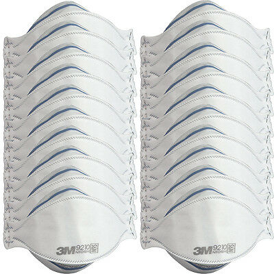 20pk Of 3M Particulate 9210/37021 Respirator N95 Face Masks For Paint Dust Mold