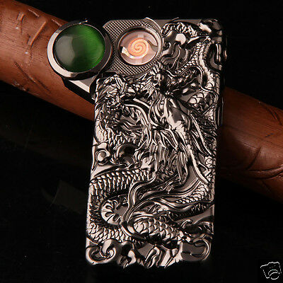 USB Rechargeable Electric Dragon Cigarette Lighter Flameless Windproof