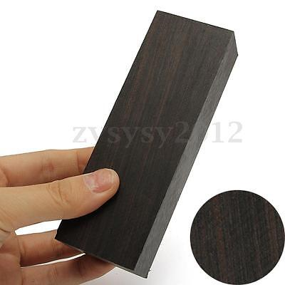 12 x2.5 x 4cm Black Ebony Lumber Gabon Handle Blank For Musical Instruments