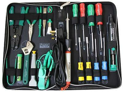 PROFESSIONAL PC Tool Kit with 40W Soldering Iron & Case PC Laptop REPAIR TOOLKIT