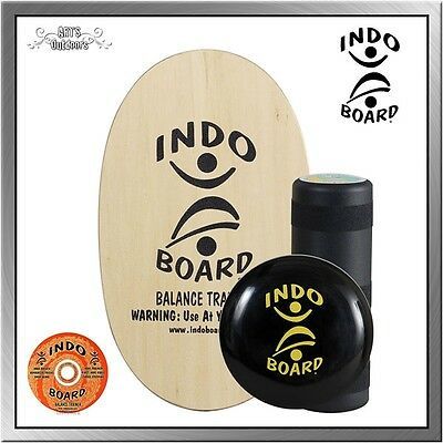 Indoboard Original Clear Balancetrainer inkl. Rolle, DVD + Flo Cushion