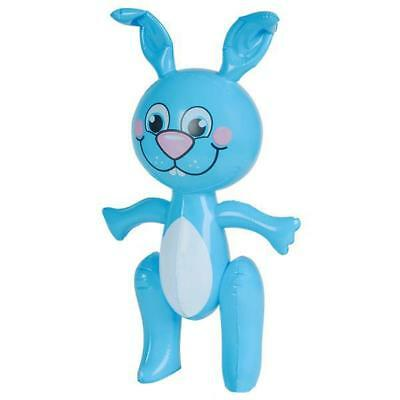 2Ft Tall Inflatable Bunny Rabbit In Blue - Blow Up Kids Animal Party Toy Gift