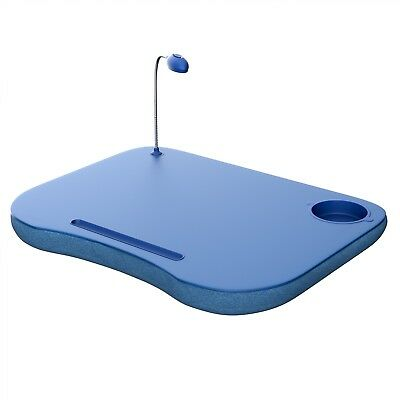 Portable LapTop Desk with Handle and LED Light - Squishy Bottom 19 x 15