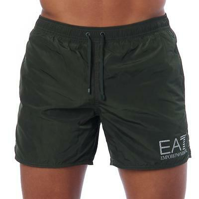 Emporio Armani EA7 Mens 5 inch Swimming Shorts - NEW 2017 - Mesh Lined Trunks