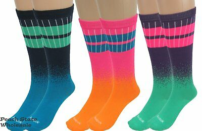 Reebok Mix 'N Match All Sport 3 Pack Youth Socks Size Small 3 Designs Colors