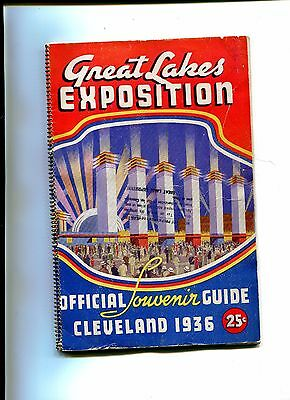 Vintage Booklet GREAT LAKES EXPOSITION Cleveland 1936 Worlds Fair spiral bound