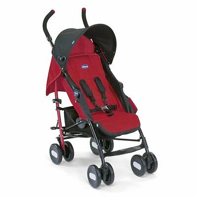 NEW Chicco Ultra Compact Lightweight Echo Stroller Pram Pushchair Buggy - Garnet