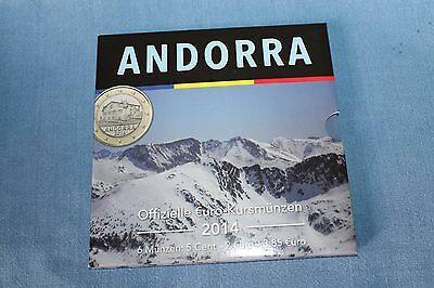 Andorra 2014 Mini KMS SET 5 Cent bis 2 Euro 3,85 Auflage 5.000 Sets RAR!!!