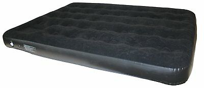 NEW Yellowstone SB023 Deluxe Double Flock Air Bed with Built-in Pump - Black