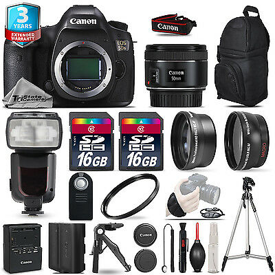 Canon EOS  5DS DSLR Camera + 50mm 1.8 STM + Flash+ 32GB + EXT BATT +2yr Warranty