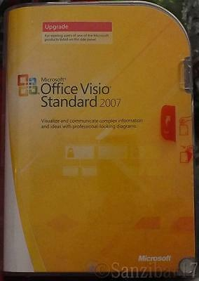 New Retail Version Multi Language Microsoft Office Visio Standard Upgrade 2007