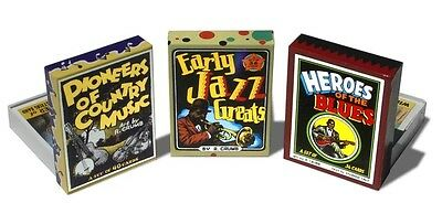 R Crumb Trading Cards Blues Jazz CountrySet of 3 Boxes Sealed Mint Ships FREE