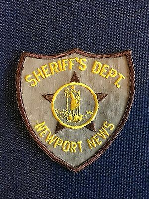 Newport News Virginia  Sheriff Small Shoulder Patch Old