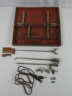 Antique Georg Wolf Cystoscope Endosopy Set Carl Zeiss Jena Berlin VERY RARE