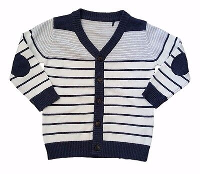 Baby Boy Cardigan Cardi Top Lightweight Summer Smart Blue 0-24M