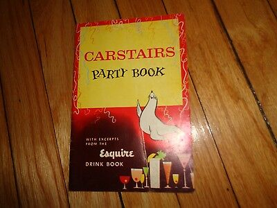 Carstairs Party Book Vintage Cocktail Book Recipes Guide Bar Drinks Mixing