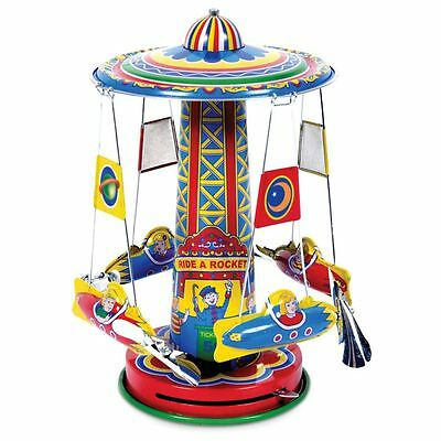 Schylling Rocket Ride Carousel Wind-Up Tin Toy by Tobar