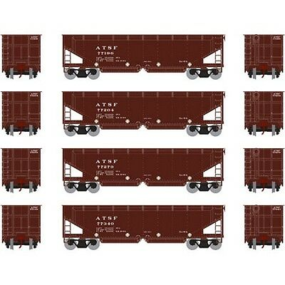 Athearn ATH14516 HO 40' Offset Ballast Hopper w/ Load SF #1 Rolling Stock (4)