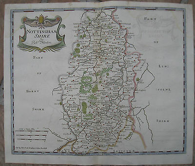 "1722 Antique Map of "" NOTTINGHAMSHIRE "" by Robert Morden -Camden's Britannia"