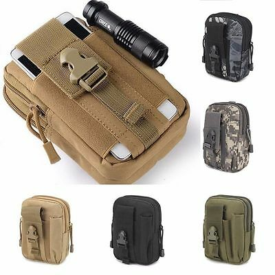Tactical Outdoor Holster Fishing Hunting Wallet Belt Bag 18650 IMR Charger Case