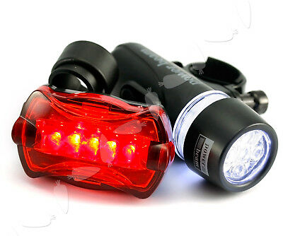 5 LED Front and Rear Super BRIGHT Bicycle Light Head Lamp Set  Mountain Bike